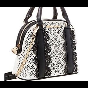 Betsey Johnson Chic Frills Satchel Bag NWT